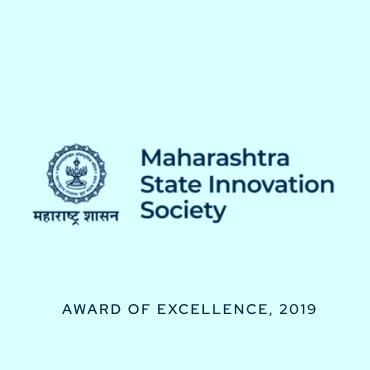 Maharashtra State Innovation Society - Award of Excellence, 2019